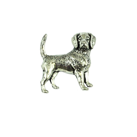 Beagle Pewter Dog Lapel Pin Badge - Minimum Mouse