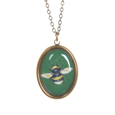 Bee Cameo Necklace by Love Boutique - Minimum Mouse