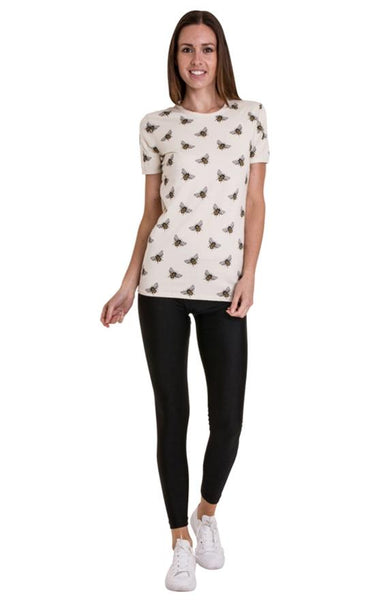 Bee Print T Shirt by Run and Fly - Minimum Mouse
