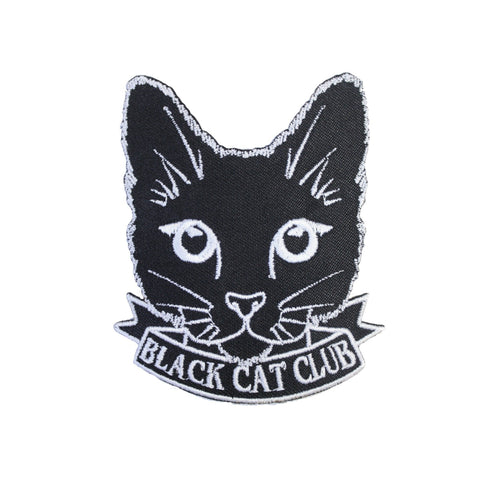 Black Cat Club Iron On Patch - Minimum Mouse