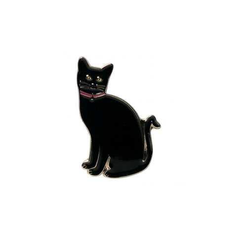 Black Cat Enamel Lapel Pin Badge - Minimum Mouse