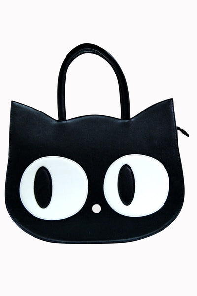 Black Cat Face Bag by Banned Apparel - Minimum Mouse