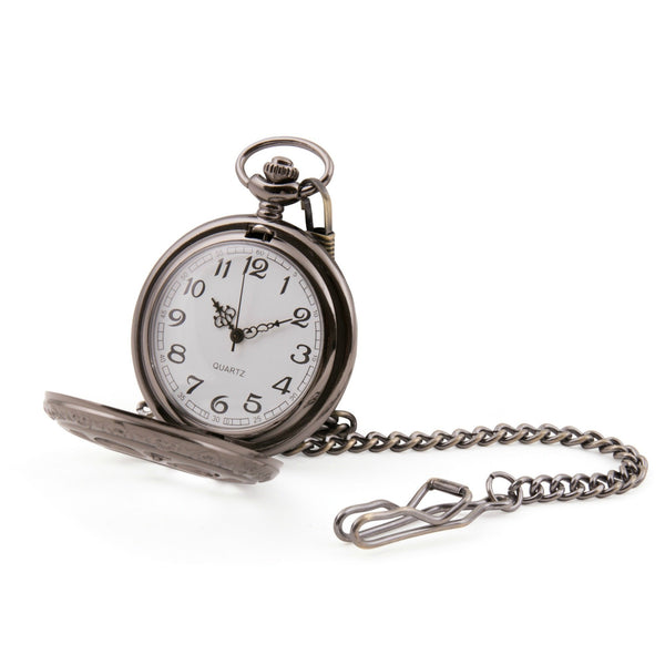 Black Cut Out Quartz Pocket Watch - Minimum Mouse