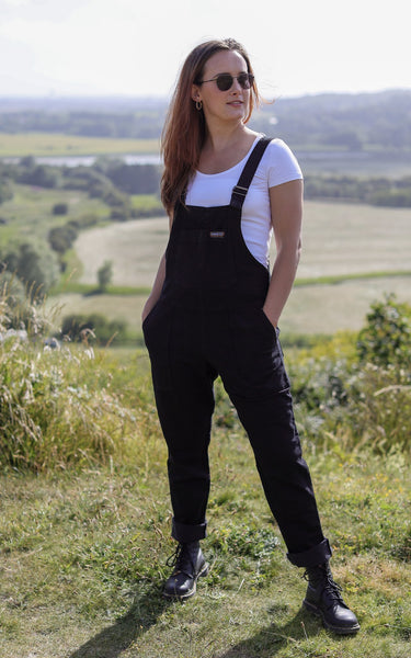 Black Denim Dungarees by Run and Fly - Minimum Mouse