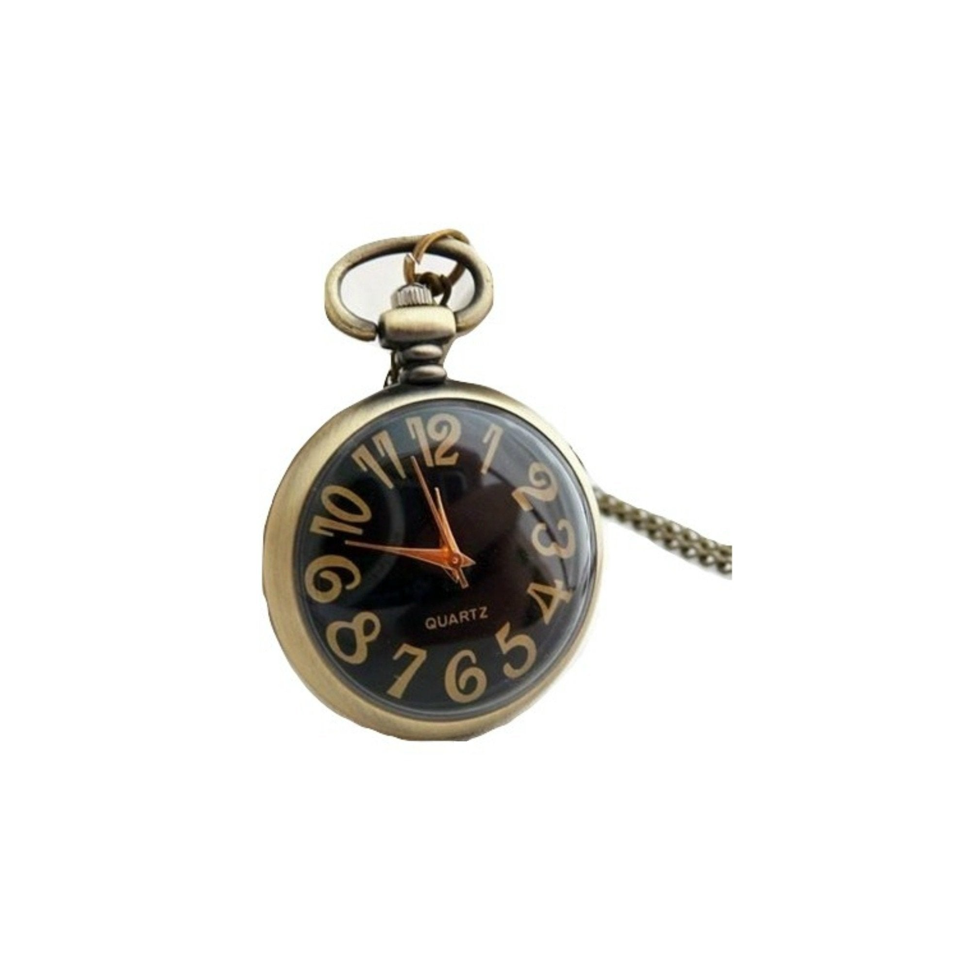 Black Face Quartz Pocket Watch - Minimum Mouse