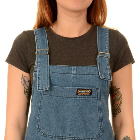Blue Denim Dungarees by Run and Fly - Minimum Mouse