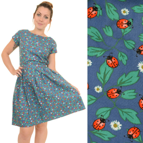 Blue Ladybird Print Dress by Run and Fly - Minimum Mouse