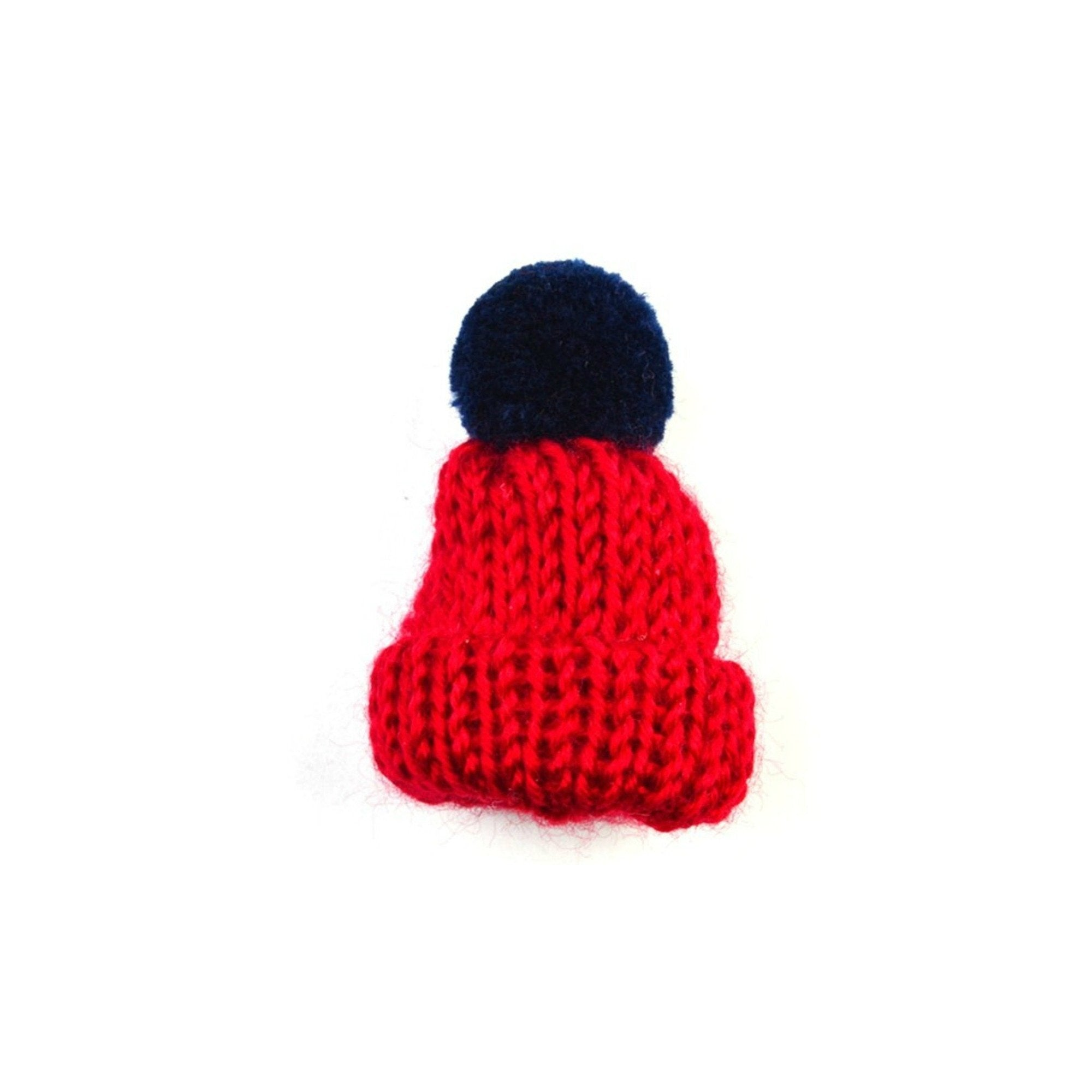 Bobble Hat Fabric Lapel Pin Badge - Minimum Mouse