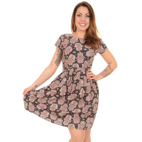 Boho Hamsa Print Dress by Run and Fly - Minimum Mouse