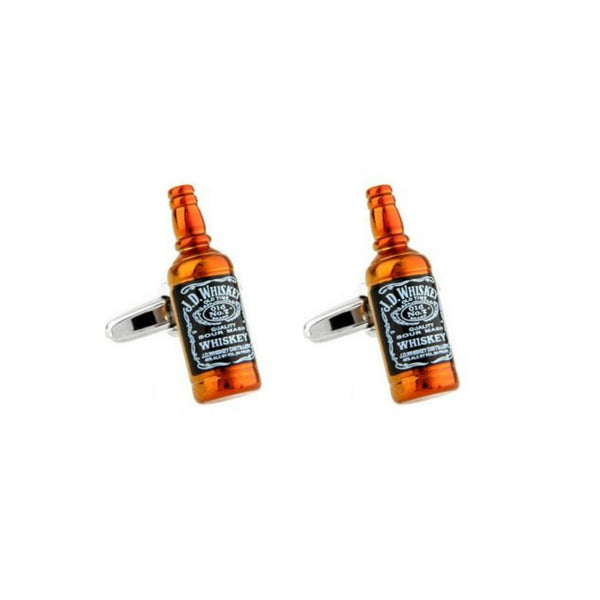 Bourbon Whiskey Bottle Cufflinks - Minimum Mouse