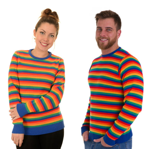 Bright Rainbow Stripe Jumper by Run and Fly - Minimum Mouse