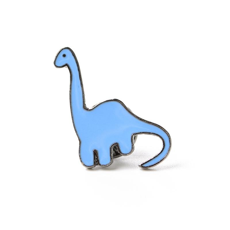 Brontosaurus Dinosaur Enamel Lapel Pin Badge - Minimum Mouse