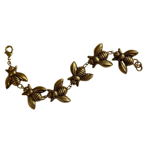 Bronze Bees Bracelet by Love Boutique - Minimum Mouse