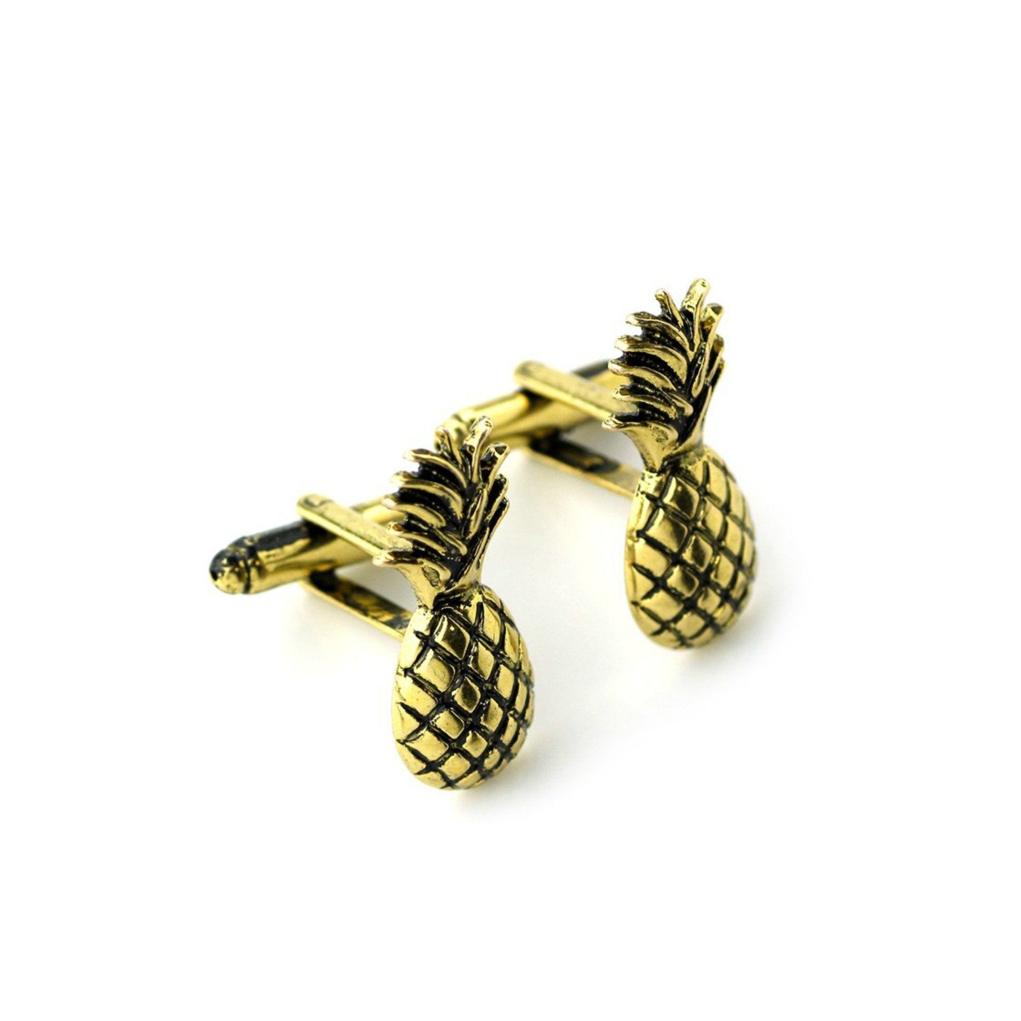 Bronze Pineapple Cufflinks - Minimum Mouse