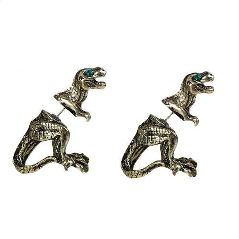 Bronze T Rex Double Sided Stud Earrings - Minimum Mouse