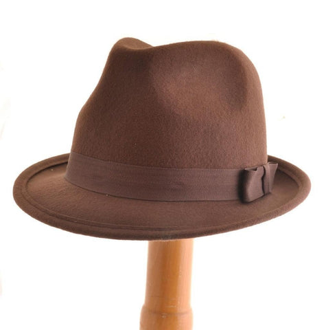 Brown Felt Trilby - Minimum Mouse