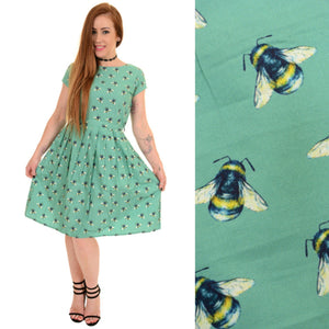 Bumble Bee Print Dress by Run and Fly - Minimum Mouse