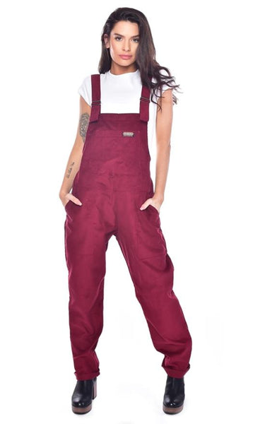 Burgundy Corduroy Dungarees by Run and Fly - Minimum Mouse