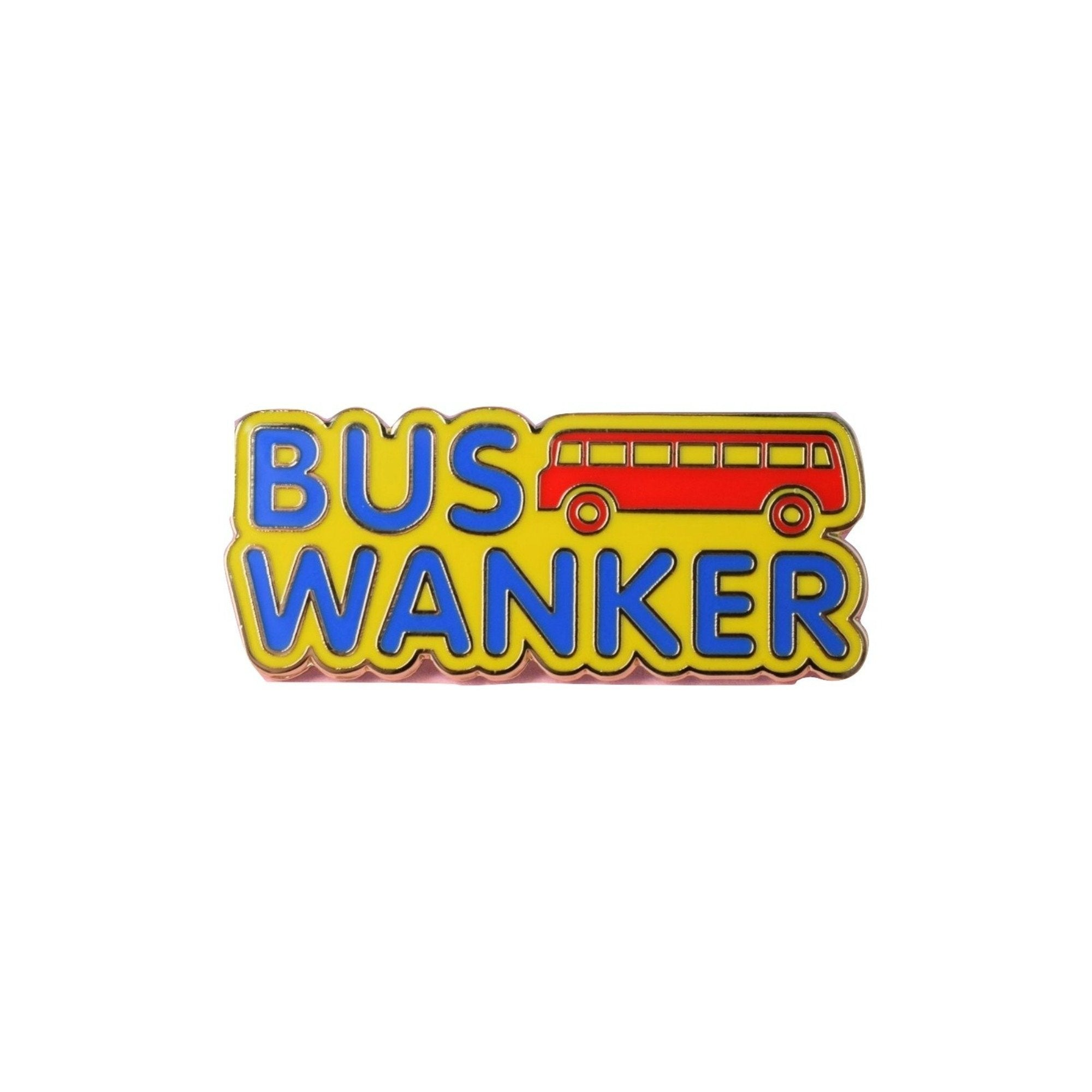 Bus Wanker Inbetweeners Lapel Pin Badge - Minimum Mouse