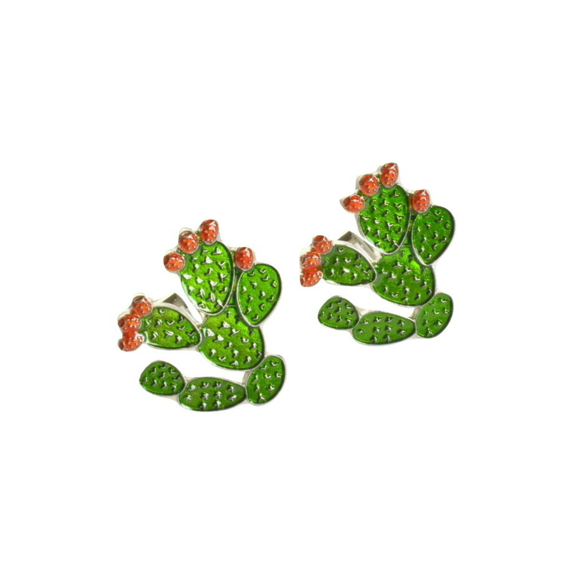 Cactus Enamel Cufflinks - Minimum Mouse