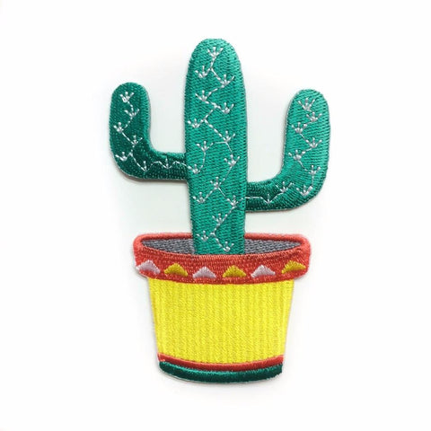 Cactus Iron On Patch - Minimum Mouse