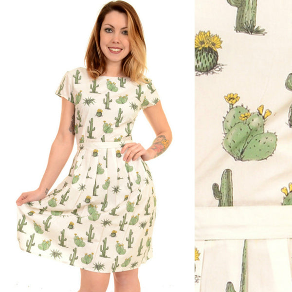 Cactus Print Dress by Run and Fly - Minimum Mouse