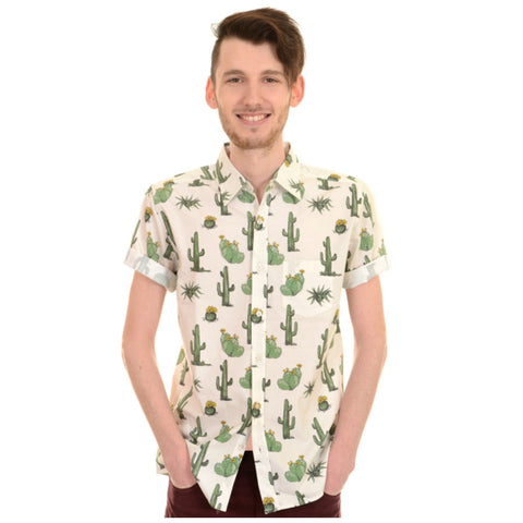 Cactus Print Shirt by Run and Fly - Minimum Mouse