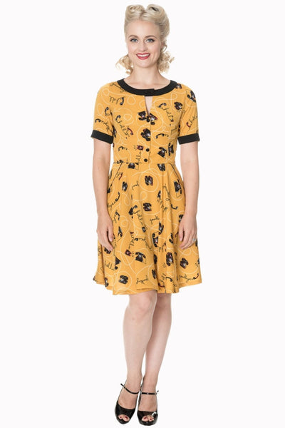 Call Me! Telephone Print Dress by Banned Apparel - Minimum Mouse