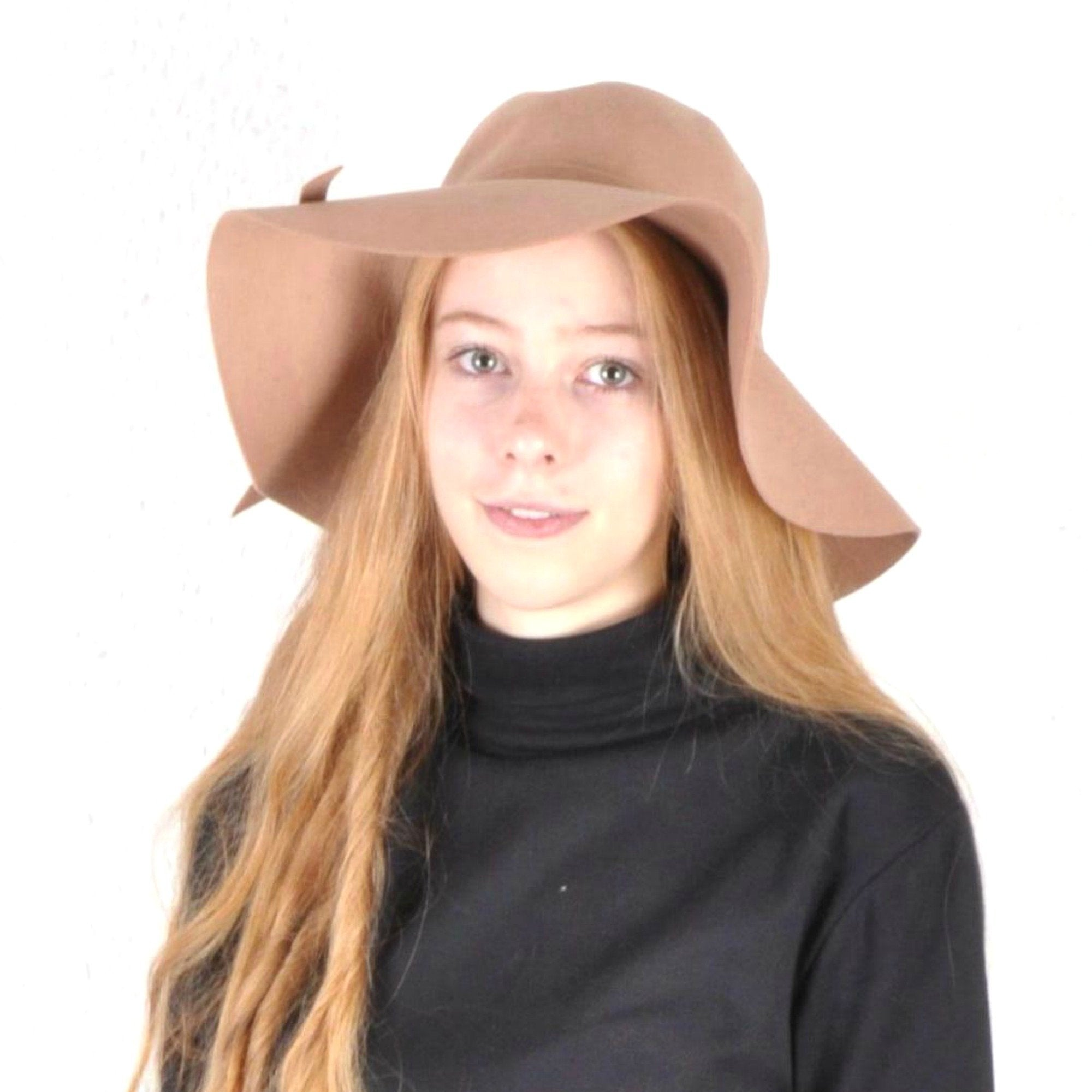 Camel Floppy Wide Brimmed Hat - Minimum Mouse