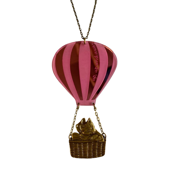 Cat in A Hot Air Balloon Necklace by Love Boutique - Minimum Mouse