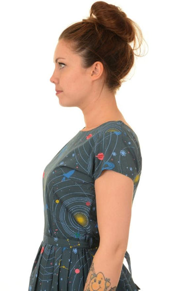 Celestial Space Print Dress by Run and Fly - Minimum Mouse