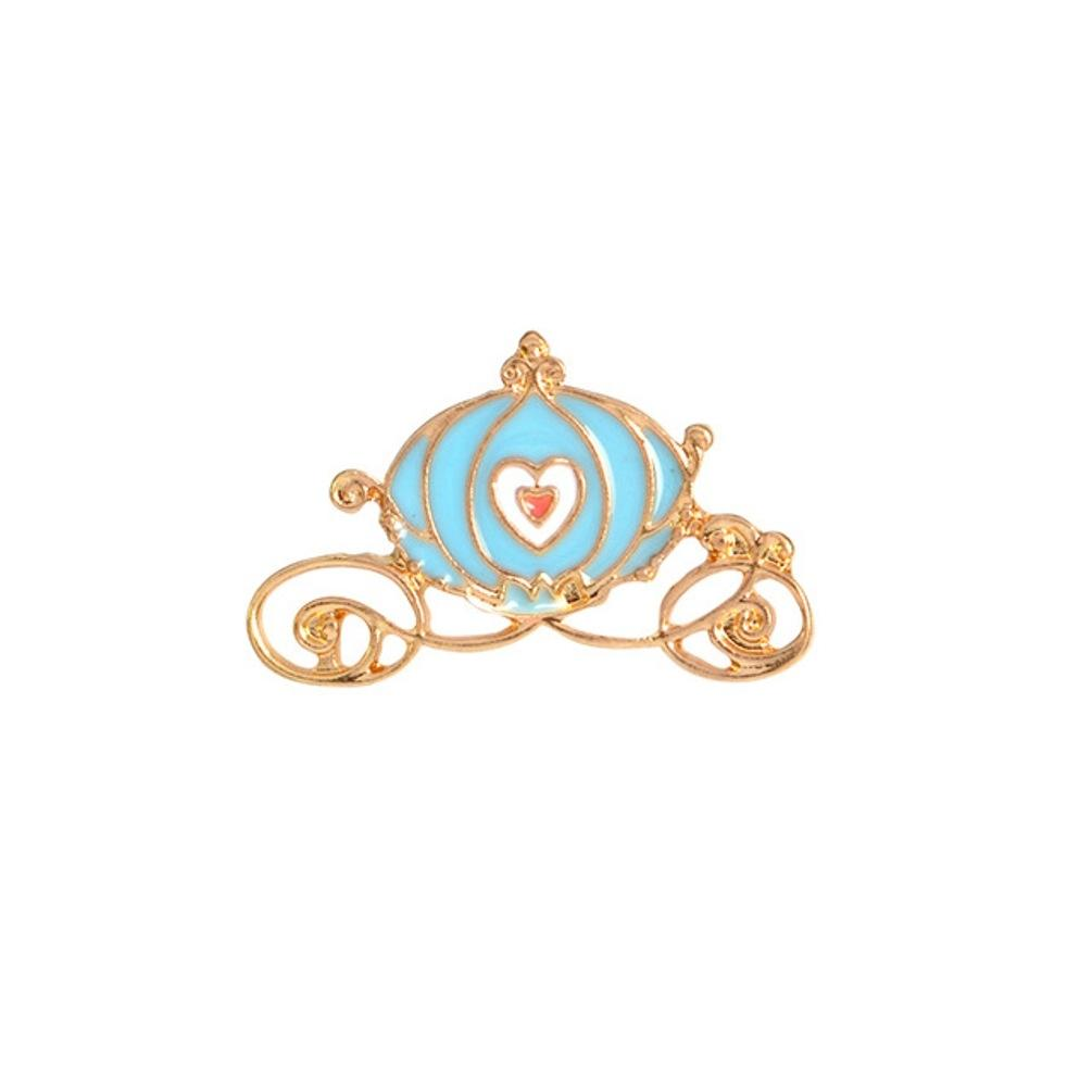 Cinderella Pumpkin Carriage Enamel Lapel Pin Badge - Minimum Mouse