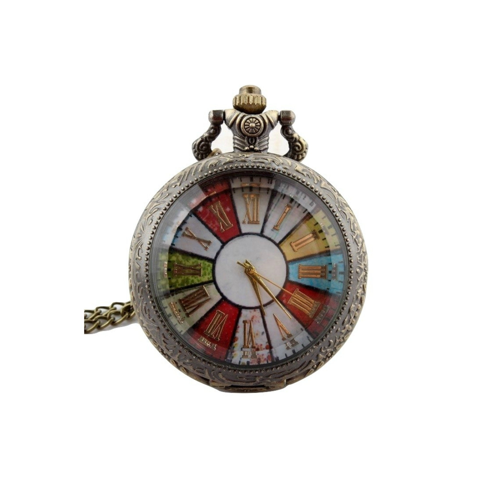 Colourful Face Quartz Pocket Watch - Minimum Mouse