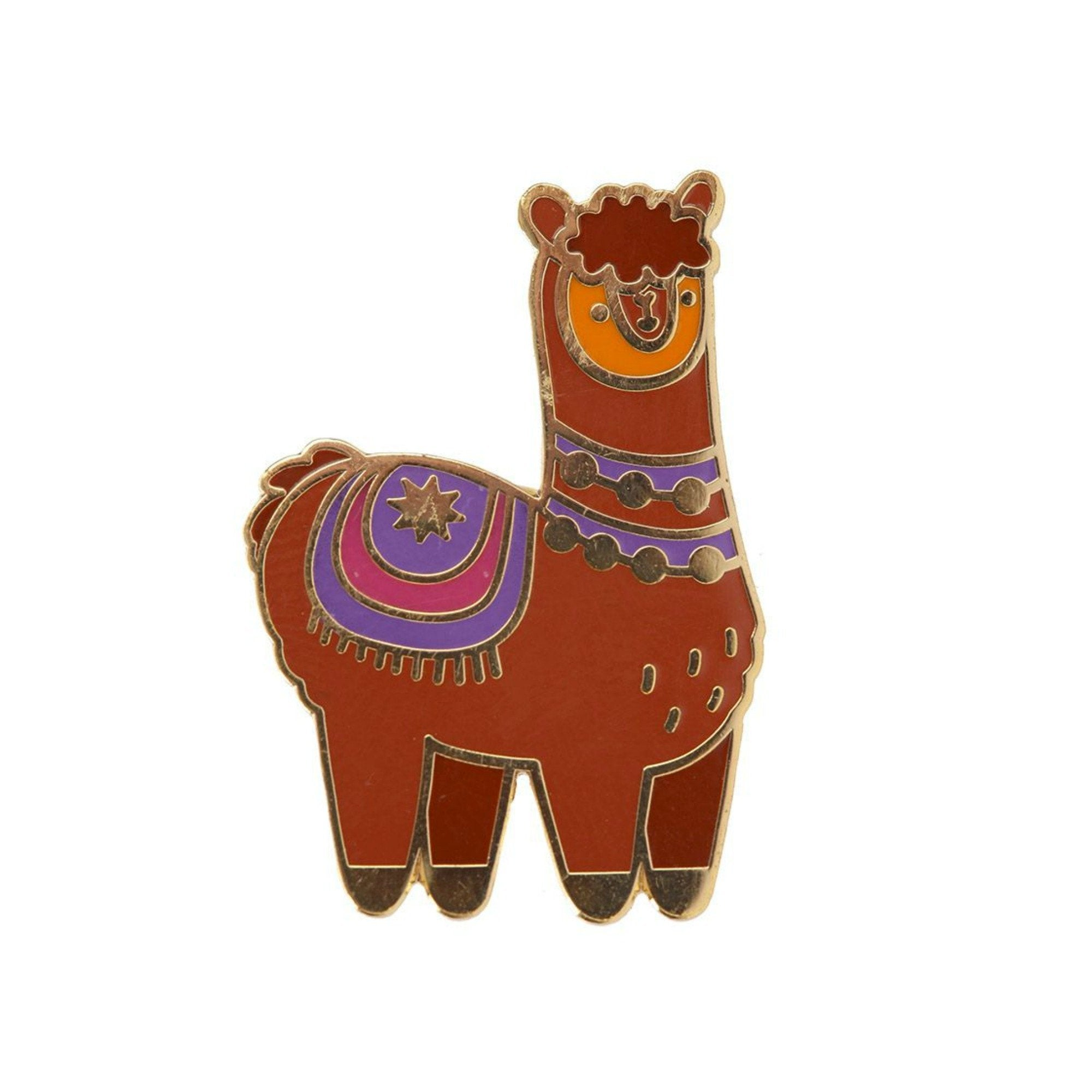 Cute Alpaca Llama Enamel Lapel Pin Badge - Minimum Mouse