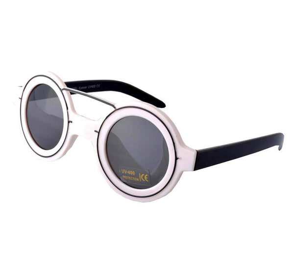 CYRUS Round Lens Brow Bar Sunglasses - Minimum Mouse