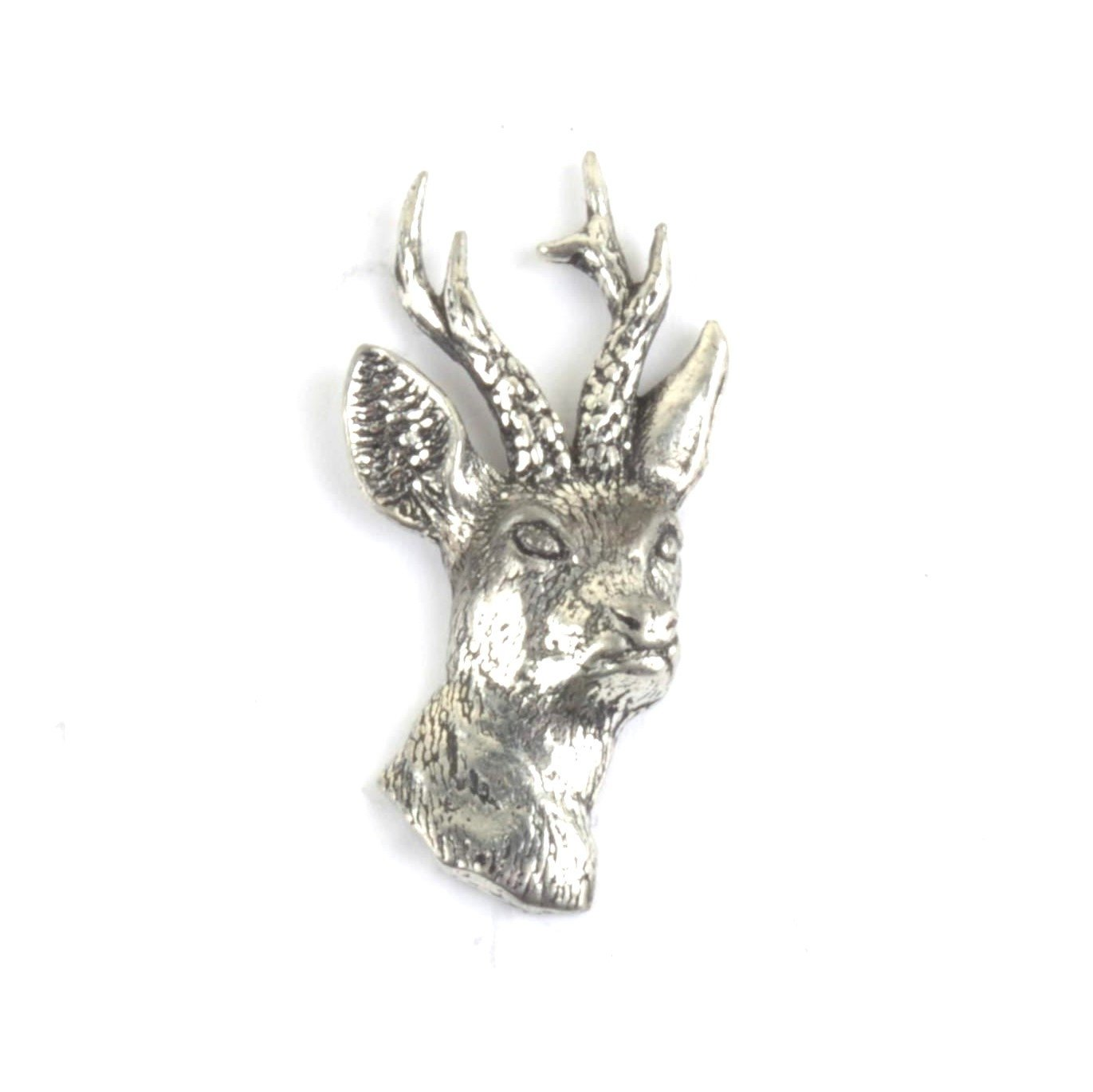 Deer Stag Head Pewter Lapel Pin Badge - Minimum Mouse