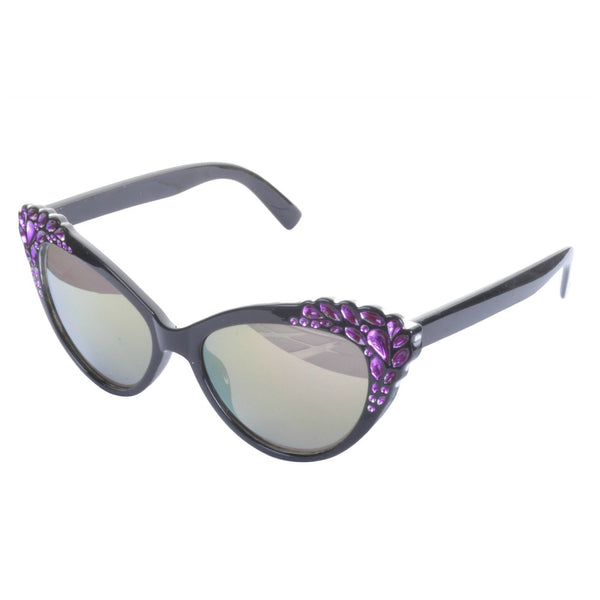 Diamante Trim Cat Eye Sunglasses - Minimum Mouse