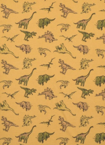 Dinosaur Print T Shirt by Run and Fly in Honey Gold - Minimum Mouse