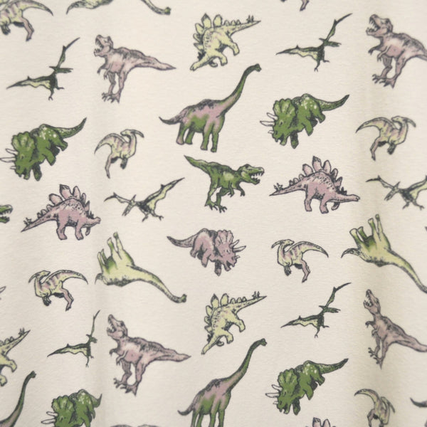 Dinosaur Print T Shirt by Run and Fly in Stone - Minimum Mouse