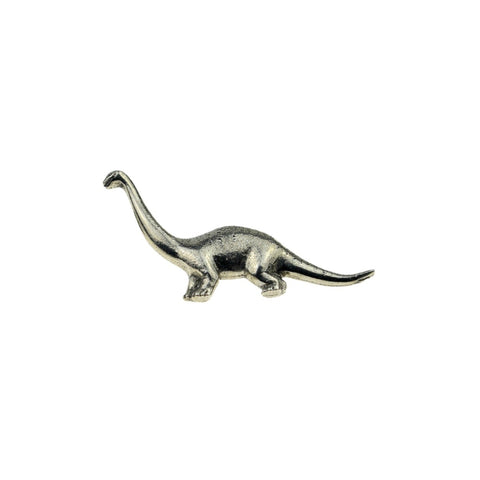 Diplodocus Pewter Dinosaur Lapel Pin Badge - Minimum Mouse