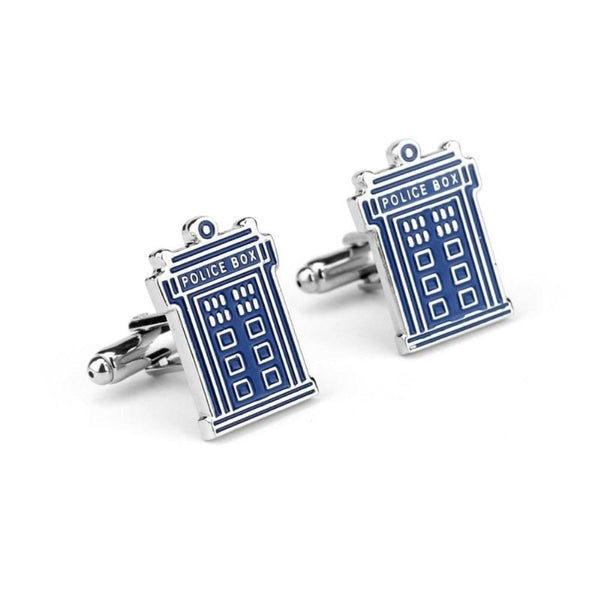 Doctor Who Tardis Cufflinks - Minimum Mouse