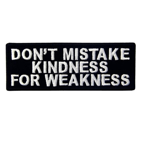 Don't Mistake Kindness For Weakness Sew On Patch - Minimum Mouse