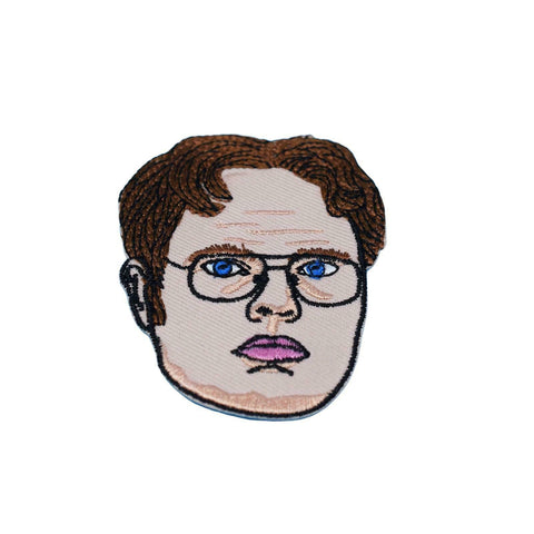 Dwight Schrute Iron On Patch - Minimum Mouse