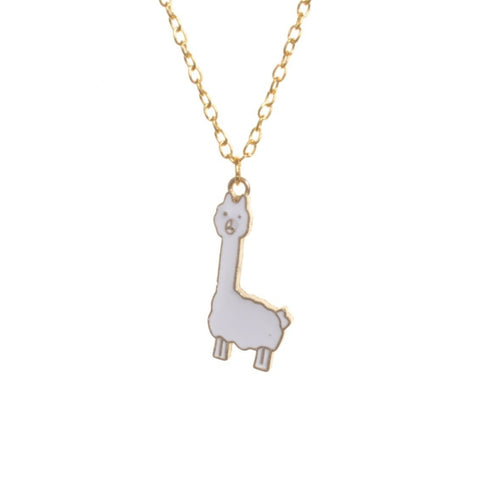 Enamel Llama Pendant Necklace - Minimum Mouse