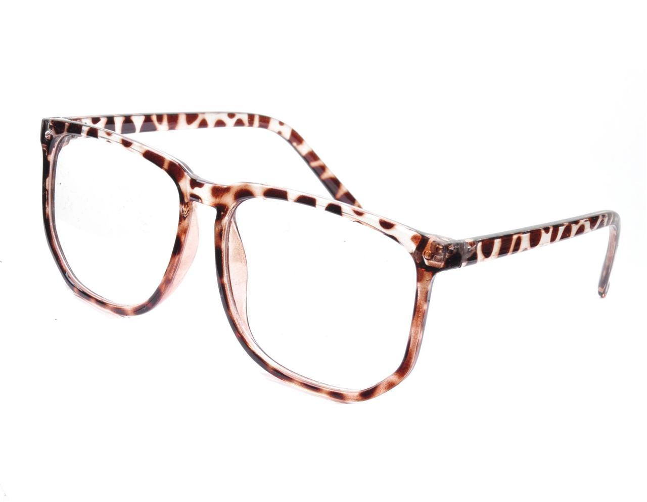 EUGENE Oversized Clear Lens Tortoiseshell Geek Glasses - Minimum Mouse