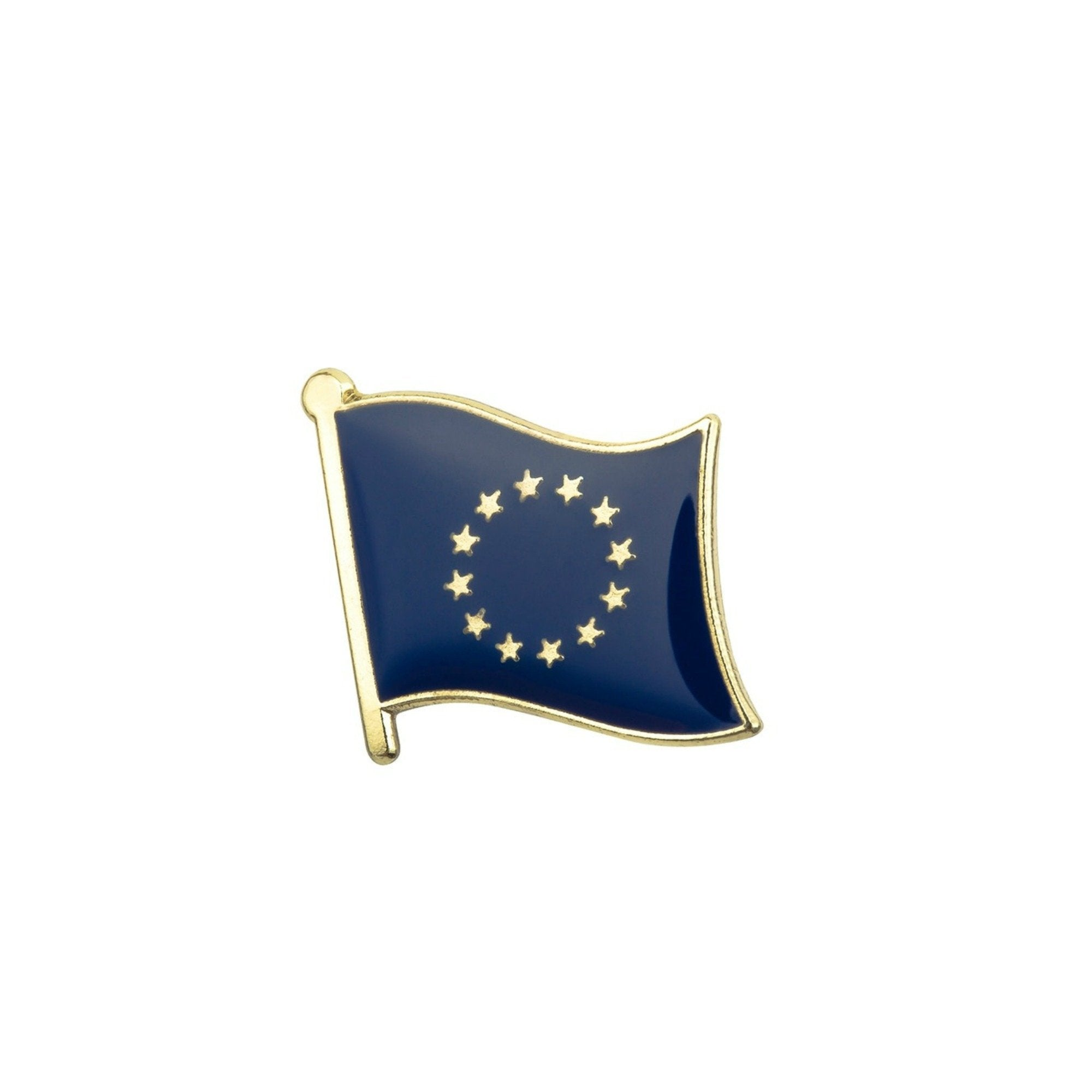 European Union EU Flag Enamel Lapel Pin Badge - Minimum Mouse