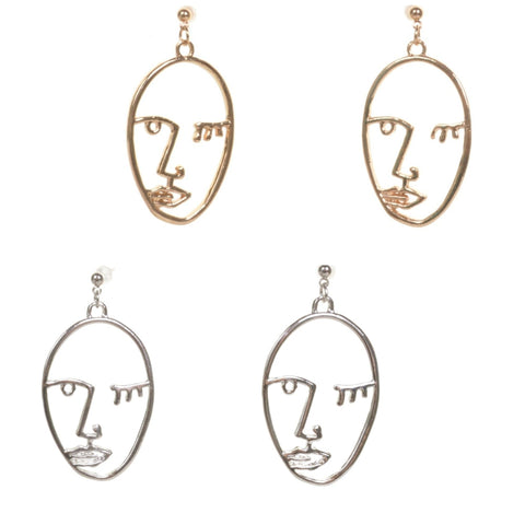 Face Earrings - Minimum Mouse