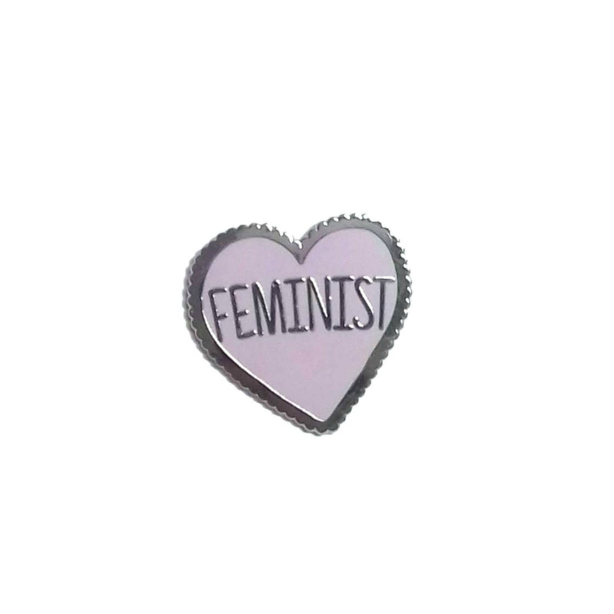 Feminist Enamel Lapel Pin Badge - Minimum Mouse