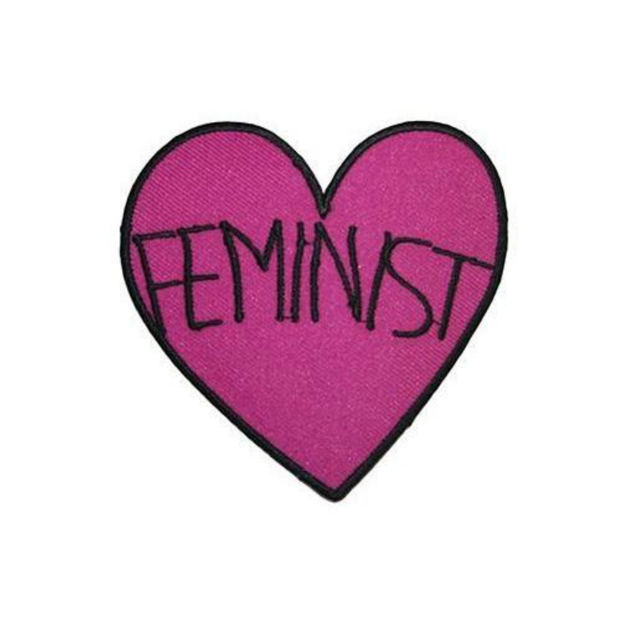 Feminist Iron On Heart Patch - Minimum Mouse
