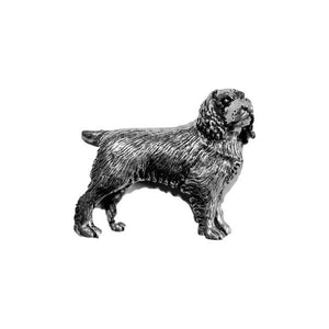 Field Spaniel Dog Pewter Lapel Pin Badge - Minimum Mouse